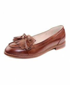 ba94971cfb5a Retro Bowknot Tassel Cowhide Shoes