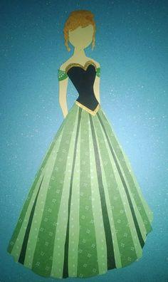 Anna Corination Dress Paper Sillouette by TheArtDressBoutique, $10.00