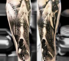 guardian angel tattoo by cox tattoo