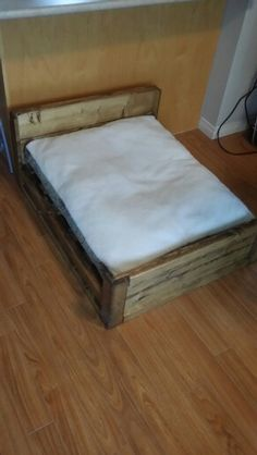 Pine dog bed, stained special walnut Dog Bed, Mattress, Pine, Furniture, Home Decor, Pine Tree, Homemade Home Decor, Home Furnishings, Interior Design