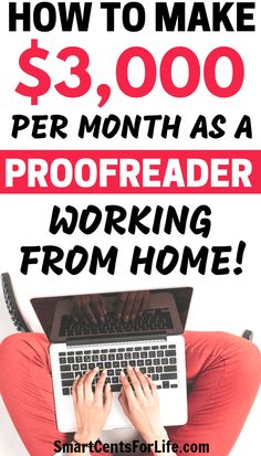 How to Make Money From Home as a Proofreader. Making money at home is possible and with this proofreading job, you can start today! Even if you are a beginner or have little to no experience you can make money from home working as a part time or full time job. #proofreading #proofreadingjobs #workfromhome #makemoneyonline #makemoneyfromhome #proofreadingjobsfromhome #proofreadingjobsonline #workfromhomejobsformoms