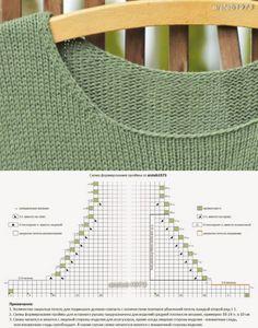 knitting tricks- хитрости вязания How to reduce edge irregularities during neck formation - Knitting Paterns, Knitting Machine Patterns, Knitting Charts, Knitting Designs, Knit Patterns, Free Knitting, Baby Knitting, Bamboo Knitting Needles, Crochet Amigurumi