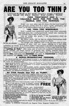 Are you too thin? Mid-twentieth century advertisement.