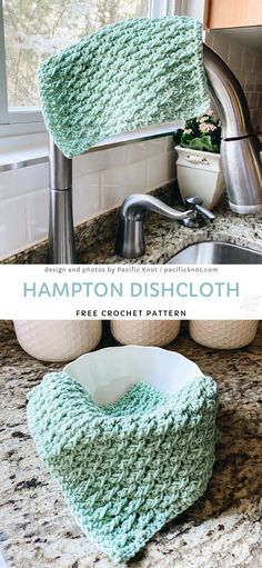 Crochet Dishcloths for Spring Crochet Crafts, Easy Crochet, Crochet Baby, Crochet Projects, Free Crochet, Knit Crochet, Wash Cloth Crochet Pattern, Thread Crochet, Free Knitting