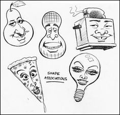 Shape associations comic artist used in strip comics to make the head of the characters.