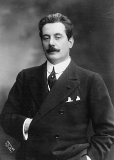 A portrait of composer Giacomo Puccini, whose most famous operas include La Boheme, Tosca and Madame Butterfly.