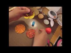 """Fall Projects"" Start to finish Part 2: Cupcake liner Rossettes and Wand - YouTube"