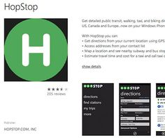 Hopstop with maps for more than 600 cities from new york