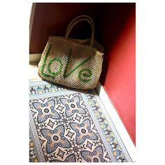 tapis de sol vinyle carreaux de ciment Beija flor |mybohem
