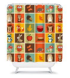 Woodland Patchwork Kidsu0027 Shower Curtain Perfect By HappywoodGoods |  Bathroom Remodel | Pinterest | Patchwork, Kid Bathrooms And Guest Bath