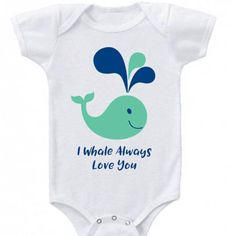 I whale always love you! This adorable nautical baby outfit is perfect for your little bundle of joy or makes the perfect baby shower gift! Features:* Baby one Baby Nursery Themes, Baby Shower Themes, Baby Boy Shower, Baby Rooms, Baby Showers, Shower Ideas, Boy Onesie, Baby Bodysuit, Onesies