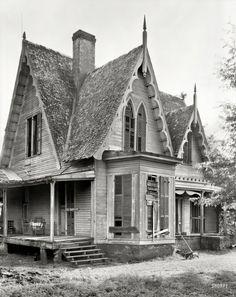 "Alabama Gothic: 1939 ""Knight House, Greensboro vicinity, Hale County, Alabama. by Frances Benjamin Johnston."
