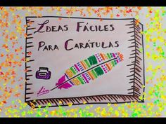 IDEAS PARA TUS CARATULAS ❤ CARATULAS CREATIVAS - YouTube
