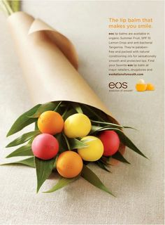EOS lip balm advertising