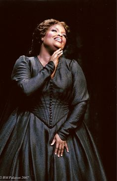 Angela M. Brown is an African-American dramatic soprano particularly admired for her portrayal of Verdi heroines.