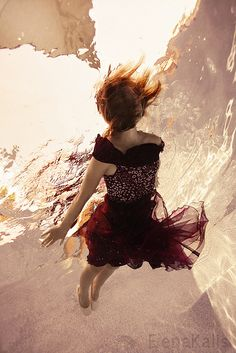 Underwater Photography ~Water and Fire by Elena Kalis, via Flickr