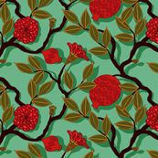 Pomegranate fabric by Lilichi