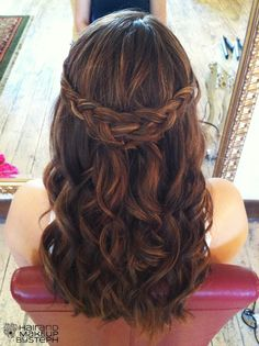 Hair and Make-up by Steph: Behind the Chair V @Jessi Lueking-something like this would be cute.