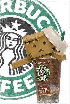 No, no Danbo!  Out of my Starbucks!