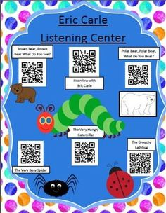Instant Listening Center - Eric Carle Author Study - QR Codes