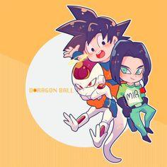 Aww kawai😍 Goku, freezer y Dbz, Goku Y Vegeta, Son Goku, Goku Pics, Dragon Ball Image, Fanart, A 17, Chibi, Cool Art