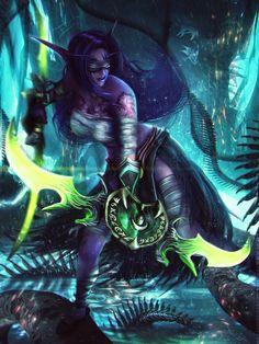 World of Warcraft Art Board ^^ // Blizzard // wow // // Digital // Geek // Night Elf Demon Hunter Anime Fantasy, Dark Fantasy Art, Fantasy Girl, Fantasy Artwork, Final Fantasy, World Of Warcraft 3, Warcraft Art, Warcraft Legion, Warcraft Characters