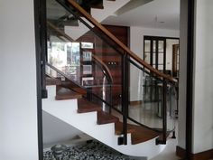 wrought iron and glass railings - Google Search