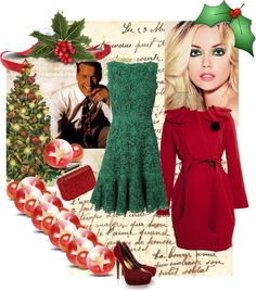 """""""Meet me under the mistletoe...."""" by style-stories ❤ liked on Polyvore"""