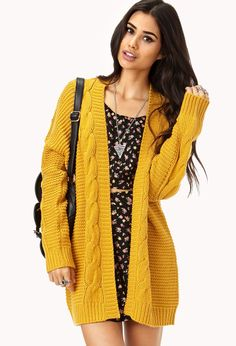 Longline Mixed Knit Cardigan | FOREVER21 - 2000128733