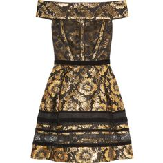 Oscar de la Renta Brocade mini dress (16 480 SEK) ❤ liked on Polyvore featuring dresses, платья, gold, fitted mini dress, oscar de la renta dresses, short fitted dresses, brown cocktail dress and loose dress