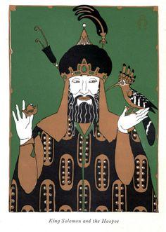 King Solomon and the Hoopoe bird