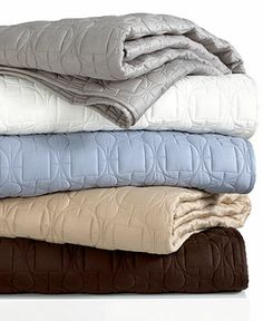 Hotel Collection Bedding, Deco Quilted Champagne Queen Coverlet - Bedding Collections - Bed & Bath - Macy's