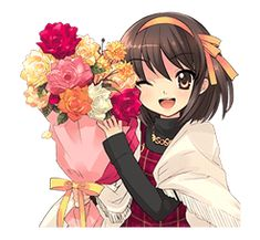 The Melancholy of Haruhi Suzumiya sticker Haruhi Suzumiya, Melancholy, Best Sellers, Cartoon, Stickers, Chat App, Anime, Female, Enemies