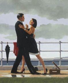 British Artist Jack Vettriano-Anniversary Waltz