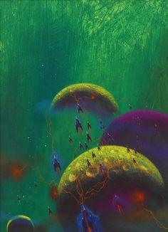 Paul Lehr Masterworks of the dream realms, Science Fiction Art Paul Lehr is one of the greatest future-fantasist painters of the post-pulp era. Cosmos, Star Trek, Gabriel, Sci Fi Kunst, Science Fiction Kunst, 70s Sci Fi Art, Classic Sci Fi, Alien Worlds, Sci Fi Books
