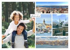 """Use your own pictures – or select one of our thousands of designs to create a unique postcard for just about every occasion. Like """"Istanbul – Multipic collage"""", from our """"Vacation Greetings"""" category. Bring your moments to life - with MyPostcard"""