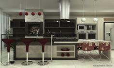 Cozinhas Gourmet com Churrasqueiras Integradas!