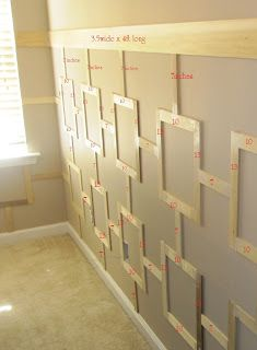tutorial to install square pattern wainscoting wall treatment... definitely not your typical board and batten!