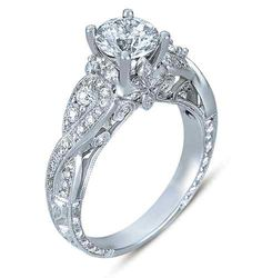 #ENGAGEMENTRING 1.75 CT ROUND FOLIAGE ANTIQUE DESIGN DIAMOND ENGAGEMENT RING F-G HD VIDEO
