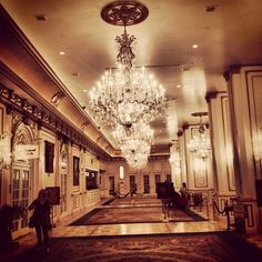 Lobby of In Chandeliers, Places Ive Been, Las Vegas, Lamps, Ceiling Lights, Lighting, Decor, Transitional Chandeliers, Decoration