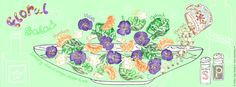 Floral Salad by Alison Day  #food #drink #cookery #cookerybooks #illustration