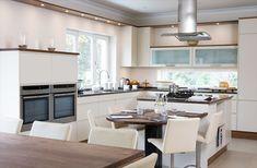 Eat-in kitchen design / Island - Danish Modern Kitchen | Found on danishkitchendesign.ie