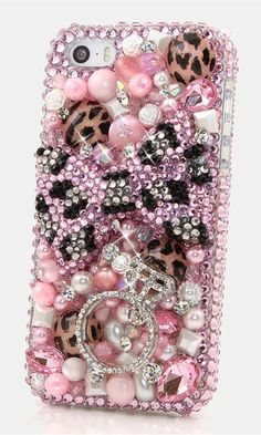 Pink Leopard Bow with Diamond Ring Bling case Design for iPhone 5/ 5s, iPhone 6s plus, Samsung Galaxy S4, S5, S6, Samsung Galaxy Note 2, 3, 4, 5 and other phone device. http://luxaddiction.com/collections/3d-designs/products/pink-leoprad-bow-with-diamond-ring-design-style-776