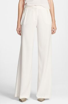 $88, Chelsea28 Pleated Wide Leg Pants. Sold by Nordstrom. Click for more info: https://lookastic.com/women/shop_items/117701/redirect