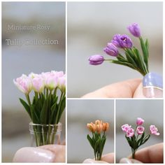 Mini Plants, Polymer Clay Flowers, Mini Things, Miniture Things, Miniature Dolls, Trees To Plant, Dollhouse Miniatures, Planting Flowers, Diy And Crafts