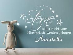 http://de.dawanda.com/product/81888659-sterne-fallen-nicht-vom-himmel---wandspruch-baby