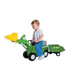Another great find on #zulily! Farm Big Scoop Tractor & Trailer Ride-on by Klein #zulilyfinds