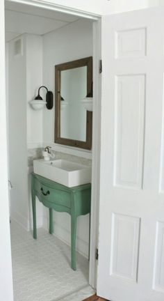 small narrow half bathroom ideas. Narrow Half Bathroom Reveal 1910 Home Renovation, Ideas, Decor, Improvement Small Ideas