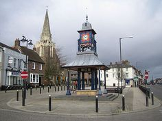 The Clock Tower and Market Cross, Dunstable, Bedfordshire