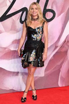 Annabelle Wallis wore Alexander McQueen.